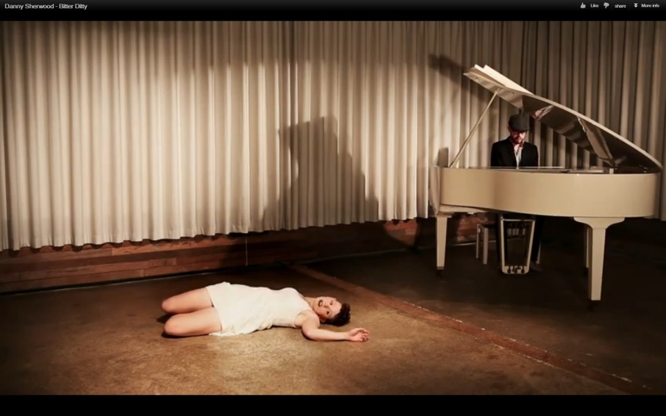Still from the video for Bitter Ditty, featuring Charlie Ranken.